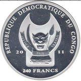 240 франков 2011, серебро (Ag 925) | Адмиралтейство — Конго, фото 1