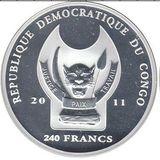 240 франков 2011, серебро (Ag 925) | Военно-морской музей — Конго, фото 1