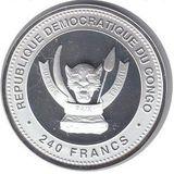 240 франков 2012, серебро (Ag 925) | Дракон Фу — Конго, фото 1