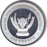 240 франков 2012, серебро (Ag 925) | Дракон Лу — Конго, фото 1