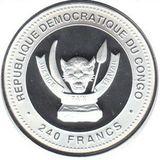 240 франков 2012, серебро (Ag 925) | Дракон на удачу — Конго, фото 1