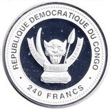 240 франков 2012, серебро (Ag 925) | Дракон на успех — Конго, фото 1