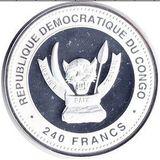 240 франков 2012, серебро (Ag 925) | Дракон на изобилие — Конго, фото 1