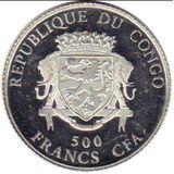 500 франков 2014, серебро (Ag 925) | Подкова — Конго, фото 1