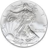 1 доллар 2005, серебро (Ag 999) | Американский орел (шагающая Свобода) — США, фото 1