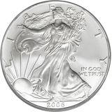 1 доллар 2006, серебро (Ag 999) | Американский орел (шагающая Свобода) — США, фото 1