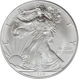 1 доллар 2012, серебро (Ag 999) | Американский орел (шагающая Свобода) — США, фото 1