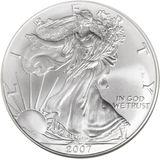 1 доллар 2007, серебро (Ag 999) | Американский орел (шагающая Свобода) — США, фото 1