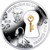 1000 франков 2015, серебро (Ag 999) | Семейное счастье — Камерун, фото 1