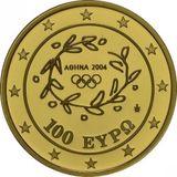 100 евро 2004, золото (Au 999) | Акрополь — Греция, фото 1