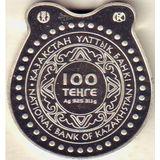 100 тенге 2016, серебро (Ag 925) | Подкова — Казахстан, фото 1