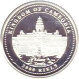 3000 риелей 2007, серебро (Ag 925) | Год свиньи — Камбоджа, фото 1