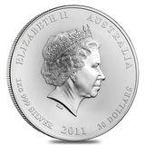 30 долларов 2011, серебро (Ag 999)   Год Кролика — Австралия, фото 1