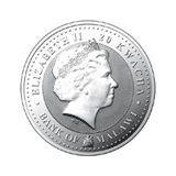 20 квача 2009, серебро (Ag 999) | Бык Лу — Малави, фото 1