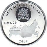 20 квача 2009, серебро (Ag 999) | Александровская колонна — Малави, фото 1