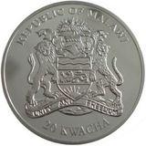 20 квача 2010, серебро (Ag 999) | Тигр в обруче — Малави, фото 1