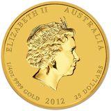 25 долларов 2012, золото (Au 999) | Год Дракона — Австралия, фото 1