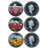 Набор монет Лилии — Ниуэ, 2012, фото 1