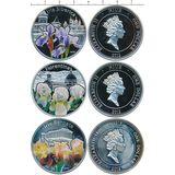 Набор монет Ирисы — Ниуэ, 2012, фото 1