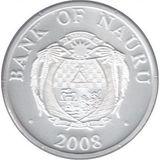 10 долларов 2008, серебро (Ag 925) | Снегурочка — Науру, фото 1