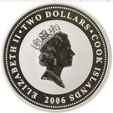 2 доллара 2006, серебро (Ag 925) | Хьюз — Острова Кука, фото 1