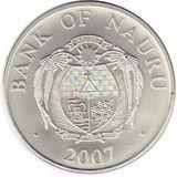 10 долларов 2007, серебро (Ag 925) | Новогодняя — Науру, фото 1
