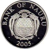 10 долларов 2005, серебро (Ag 925) | Собор Василия Блаженного — Науру, фото 1