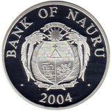 10 долларов 2004, серебро (Ag 925) | Дворец Монако — Науру, фото 1