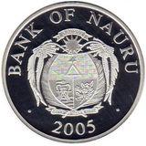 10 долларов 2005, серебро (Ag 925) | Дворец Сан-Марино — Науру, фото 1