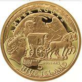 5 долларов 2009, золото (Au 999) | Эльблонг — Ниуэ, фото 1