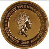25 долларов 2008, золото (Au 999) | Лебеди — Острова Кука, фото 1
