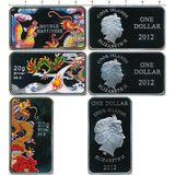 Набор монет Драконы (3 доллара) — Острова Кука, 2012, фото 1