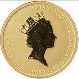 20 долларов 2008, золото (Au 999)   Жёлтый пион — Острова Кука, фото 1