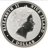 1 доллар 2007, серебро (Ag 925) | Боров — Ниуэ, фото 1