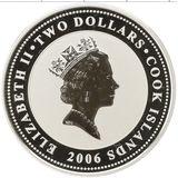 2 доллара 2006, серебро (Ag 925) | Блок — Острова Кука, фото 1