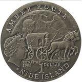 1 доллар 2008, серебро (Ag 925) | Калининград — Ниуэ, фото 1