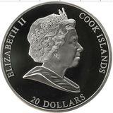 20 долларов 2010, серебро (Ag 925)   Богатыри — Острова Кука, фото 1