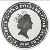 2 доллара 2006, серебро (Ag 925) | Бугатти — Острова Кука, фото 1