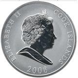 10 долларов 2008, серебро (Ag 925)   Ротшильд — Острова Кука, фото 1