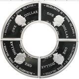 Набор монет Четыре дракона (4 доллара) — Острова Кука, 2012, фото 1