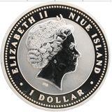 1 доллар 2007, серебро (Ag 925) | Свинья на счастье — Ниуэ, фото 1