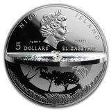 5 долларов 2019, серебро (Ag 925) | Сотворение мира — Ниуэ, фото 1