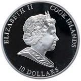 10 долларов 2011, серебро (Ag 925)   Заяц — Острова Кука, фото 1