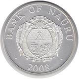 10 долларов 2008, серебро (Ag 925) | Дед Мороз — Науру, фото 1