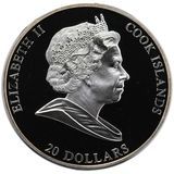20 долларов 2009, серебро (Ag 925)   Сикстинская мадонна  — Острова Кука, фото 1