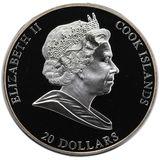 20 долларов 2009, серебро (Ag 925) | Бедный художник  — Острова Кука, фото 1