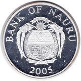 10 долларов 2005, серебро (Ag 925) | Собор святого Стефана — Науру, фото 1