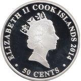 50 центов 2014, серебро (Ag 925) | Жеребенок  — Острова Кука, фото 1