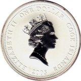 1 доллар 2005, серебро (Ag 925) | Пожарная машина — Острова Кука, фото 1