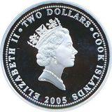 2 доллара 2005, серебро (Ag 925) | Макомако — Острова Кука, фото 1